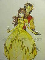 Rumpelstiltskin and Belle by InkMonster13