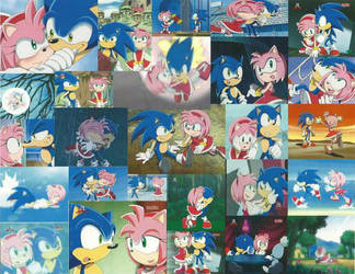 Sonic and Amy Wallpaper by bigpurplemuppet99