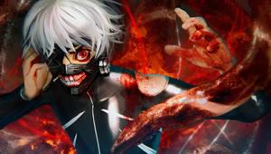 Tokyo Ghoul White Hair Kaneki by cursedapple