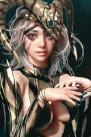 A Girl With Horns by cursedapple