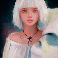 White Hair by cursedapple