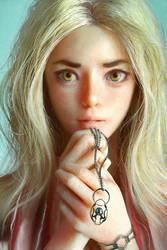 Portrait of a Girl by cursedapple