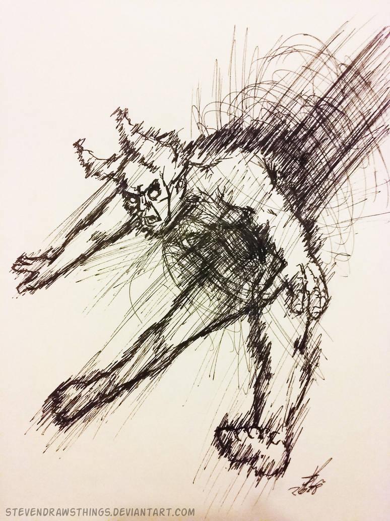 Inktober 2018 - 30: Jolt by StevenDrawsThings