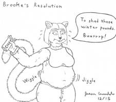 Brooke's 2016 Resolution - WIP by AnthroLoverJay