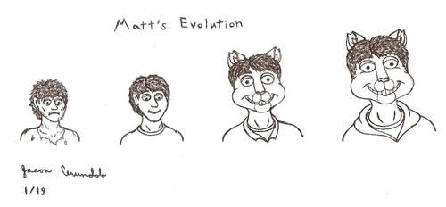 Matt's Evolution - Sketch by AnthroLoverJay