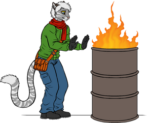 Jasper and the Fire Barrel by Carolzilla by AnthroLoverJay