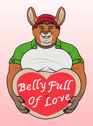 Austin's Belly Full of Love by KittyFred by AnthroLoverJay