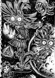 The Legend Of Zelda Majora's Mask Sketchbook page4 by SlurpieDoo