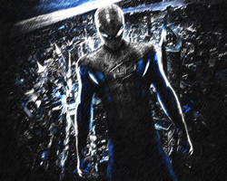 The Amazing Spider-Man. Wallpaper. Blue by StalkerAE