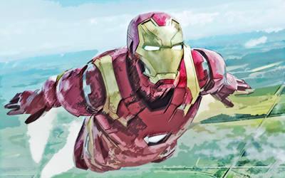 Civil war. Iron man. by StalkerAE