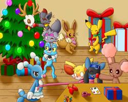Happy Pokemon Christmas by DarkrexS