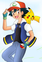 Ash And Pikachu by DarkrexS