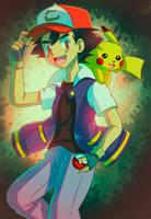 Ash And Pikachu by DarkrexS