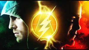 Arrow X Flash Wallpaper by JoKer by JokerEditions