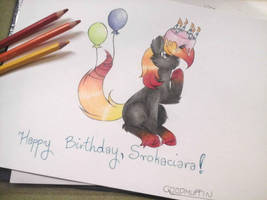 MLP fim: Happy B-day, Srokaciara! by FoxfromWonderland
