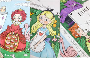+ Alice in Wonderland + book cover + by FoxfromWonderland