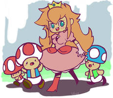 mushroom kingdom by Child-Of-Neglect