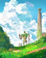 laputa castle in the sky by spiridt