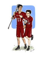 McCall and Stilinski and Lacrosse by Salzburger89