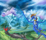 CM: Blue and Justin ~In the Mountain Meadow~ by EternalDragoness
