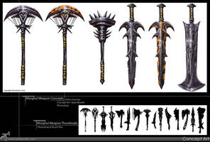 Morghul Weapon Concepts by RynoZebz