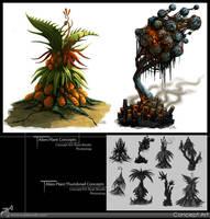 Alien Plant Concepts by RynoZebz