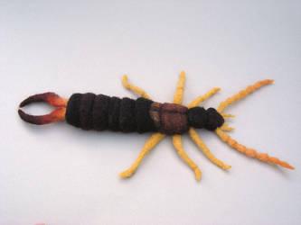 Needle Felted Earwig by creturfetur