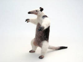Needle felted tamandua or lesser anteater by creturfetur