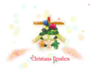 Christmas Brushes by Lunatic-ARTStock