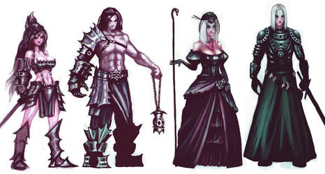 Random character designs by zomby138