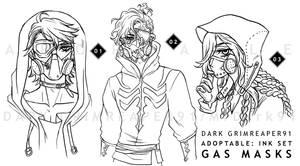 [CLOSED] Adoptables : INK set GAS MASKS by MrDark91