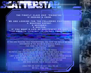 ScatterStar - Multiverse Forum RPG advertisement by AnarchicQ