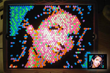 Tina Fey Lite Brite by nick15