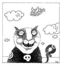 el gato nombrado Esqueleto by Rorkas