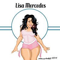 Lisa Mercedes Cartoon by MarcusTheArtist