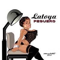 Latoya Peguero Cartoon by MarcusTheArtist