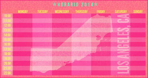Schedule 2014: Love Los Angeles, California by eugegfx