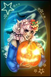 The Cute Emmy and her Pumpkin  by TheCoconutChild1