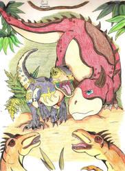 L'attaque des Deinonychus by NightDragon07