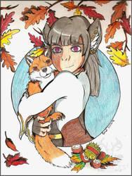 Silfrun and a fox by NightDragon07