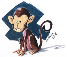 Monkey gouache by marciolcastro