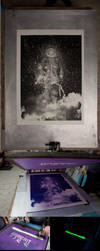 Die Rakete: phosphorescent ink version by tind