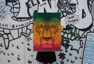 Lion / International Reggae Poster Contest 2013 by tind