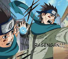Konohamaru's Rasengan by ultima0chaotic