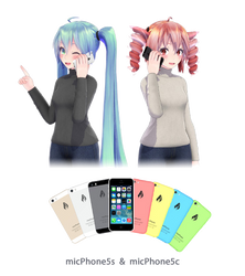 [MMD] micPhone5c - micPhone5s DL by xMogeChuu