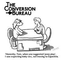 TCB cartoon: Pony Play by Aealacreatrananda