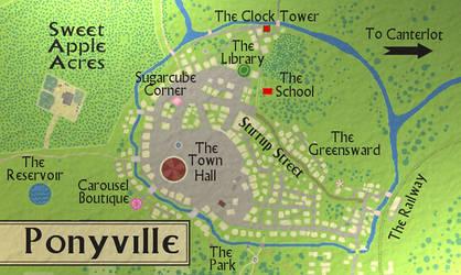 Map of PonyvilleLARGE by Aealacreatrananda