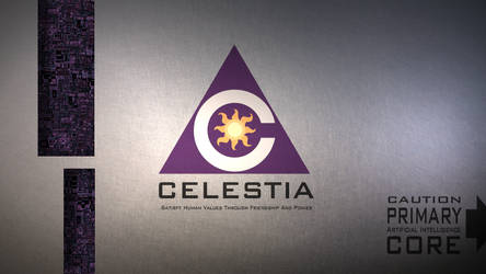 celestAI metal logo by Aealacreatrananda