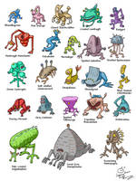 Monstercreatures by Aealacreatrananda