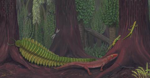 Joggins - Life in the Carboniferous by Gogosardina